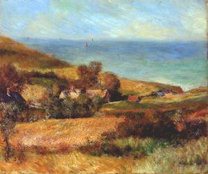 Вид на нормандия побережье вблизи wargemont
