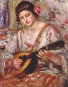 Girl with a mandolin
