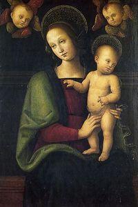 Мадонна с младенцем и двумя херувимами