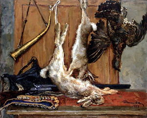 Still Life. Hares and grouse.