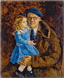 Self-portrait with his granddaughter