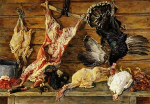 Still Life. Meat and poultry.