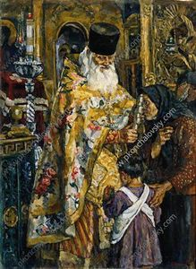 In the cathedral of Yuryev (Abbot Bessarion)