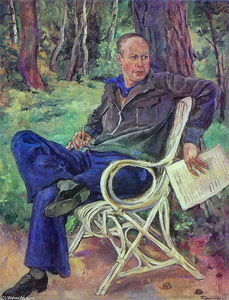 Portrait of the composer Sergei Prokofiev