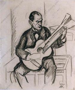 Guitarist. A Sketch.