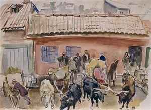 Kutaisi. Grape market.