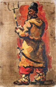 Triptych. Cossack with a fork.