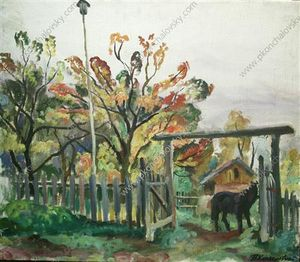 Horse at the gate