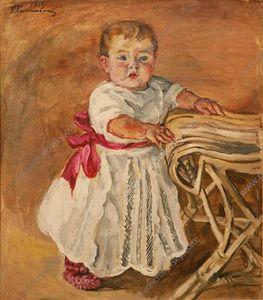 Katya at a chair