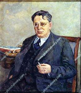 Portrait of writer Samuil Marshak