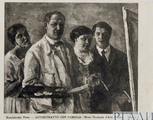 Self-portrait with family