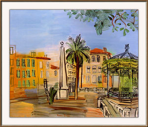The square in Hyeres