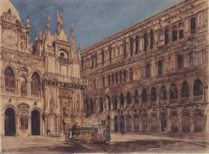 The courtyard of the Doge's Palace in Venice