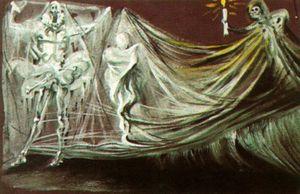 Design for the Death Scene in 'Don Juan Tenorio'