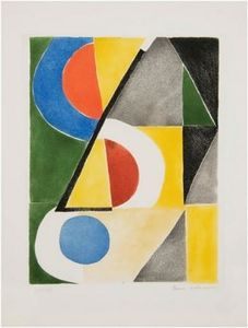 Abstract Composition with triangles and Semicircles
