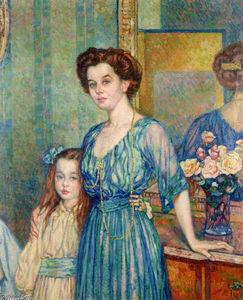 Madame Von Bodenhausen with her daughter Luli
