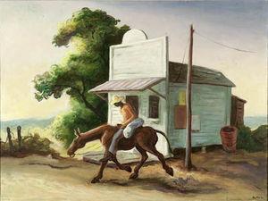 Boy on a Mule