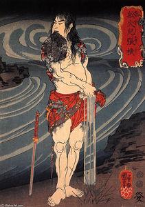 Senkaji Chao wringing out his loincloth