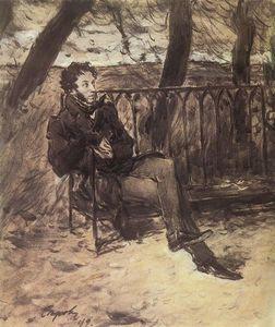 Alexander Pushkin in a Park