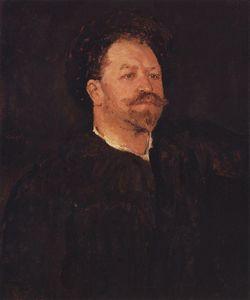 Portrait of Italian singer Francesco Tamano