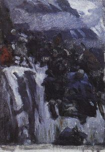 Russian Troops under Suvorov Crossing the Alps (study)