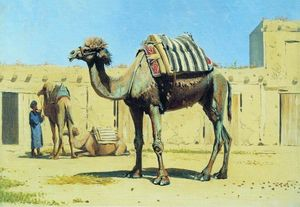 骆驼客栈的庭院