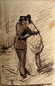 A Man and a Woman Seen from the Back