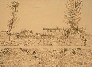 Ploughman 在 田地 附近 阿尔勒