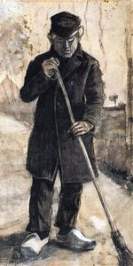 A Man with a Broom