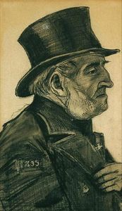 An Almshouse Man in a Top Hat