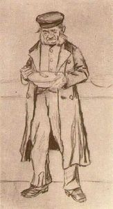 Orphan Man with Cap, Eating