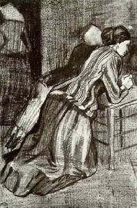 Two Women, Kneeling