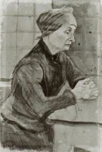 Woman with Folded Hands, Half-Length
