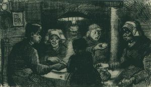 Five Persons at a Meal