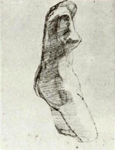 Plaster Torso of a Woman, Seen from the Side