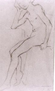 Seated Nude after Bargues