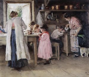 At the kitchen