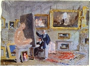 Painter at the easel