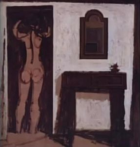 Nude in a room