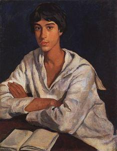 Portrait of E.I. Zolotarevskii in childhood