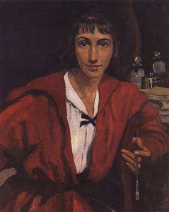 Self-portrait in red