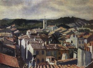 Cassis.The roofs of the city