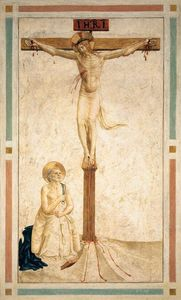Crucifixion with St Dominic Flagellating Himself (Cell 20)