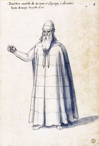 Costume of the allegorical figure ''Dialectic''