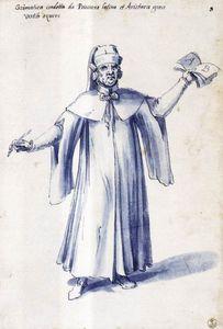 Costume of the allegorical figure ''Grammar''