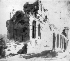 Ruins of the City Walls, near Porta S Paolo, Rome