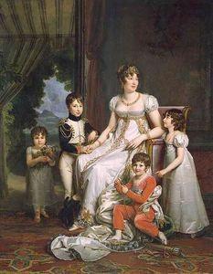 Caroline Bonaparte, Queen of Naples, and Her Children
