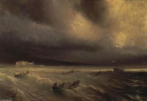 Storm in the Sea