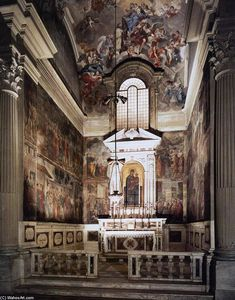 View of the Cappella Brancacci (before restoration)