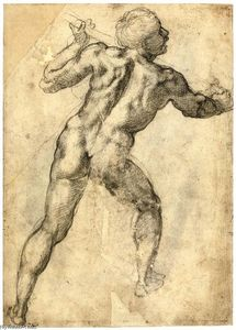 Male Nude, Seen from the Rear (recto)